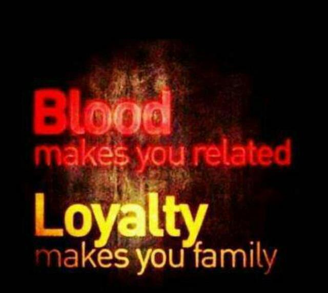 Blood Doesn't Make You Family